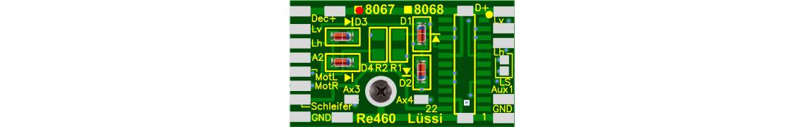 Leiterplatte für Märklin Re 460 Loks
