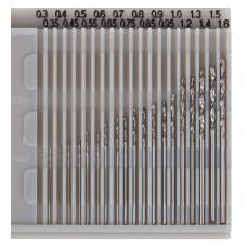 Metal drill set 20 pieces, 0.3 - 1.6mm, Faller 170523