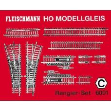 Modellgleis, Rangierset. Fleischmann 6091