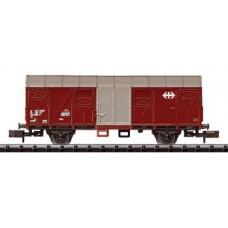 Geschlossener Güterwagen, braun