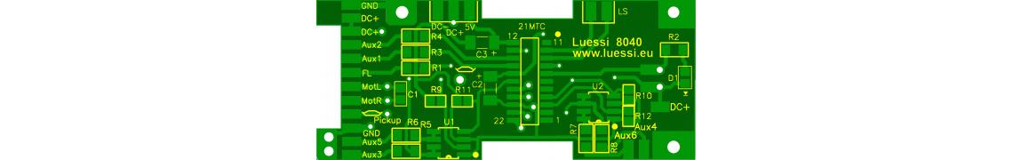 Decoder-Leiterplatte für Märklin Dampfloks
