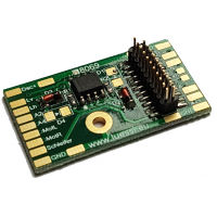 Decoder PCB for Marklin Re 460 and Ae 6/6 Locos. 21MTC connection. Aux3 and 4 amplified. Lussi 8069