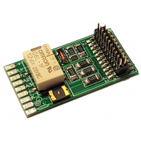Relay-PCB for decoders, for motor-less rolling stock. Lussi 8110