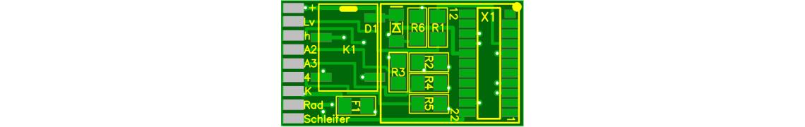 Relais-Leiterplatte für Funktionsdecoder