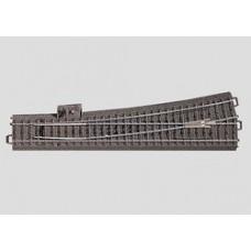 H0 C-Gleis schlanke Weiche links, R = 1114.6mm