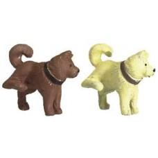2 Hunde, beige und braun